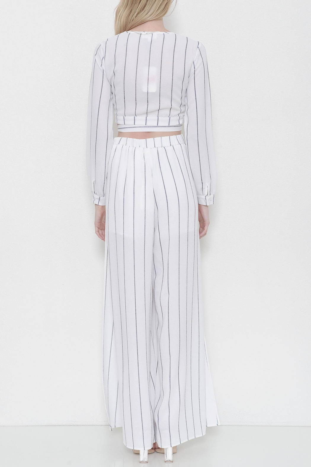 L'atiste Striped Flare Pant Set - Front Full Image