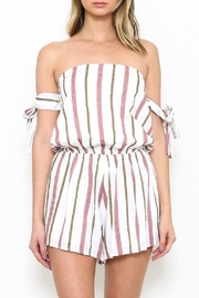 Latiste Striped Ots Romper - Product Mini Image
