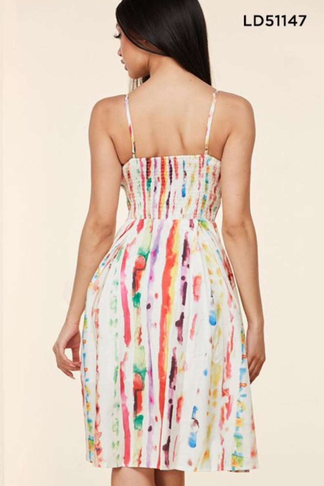Latiste Summer Watercolor Dress - Front Full Image