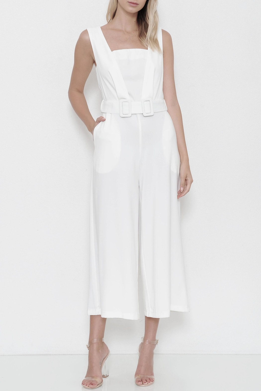 L'atiste Belted Jumpsuit - Front Cropped Image