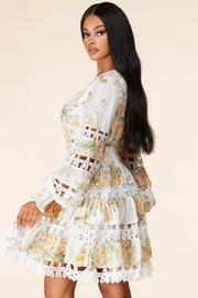 Latiste Tiered Floral Dress - Front full body