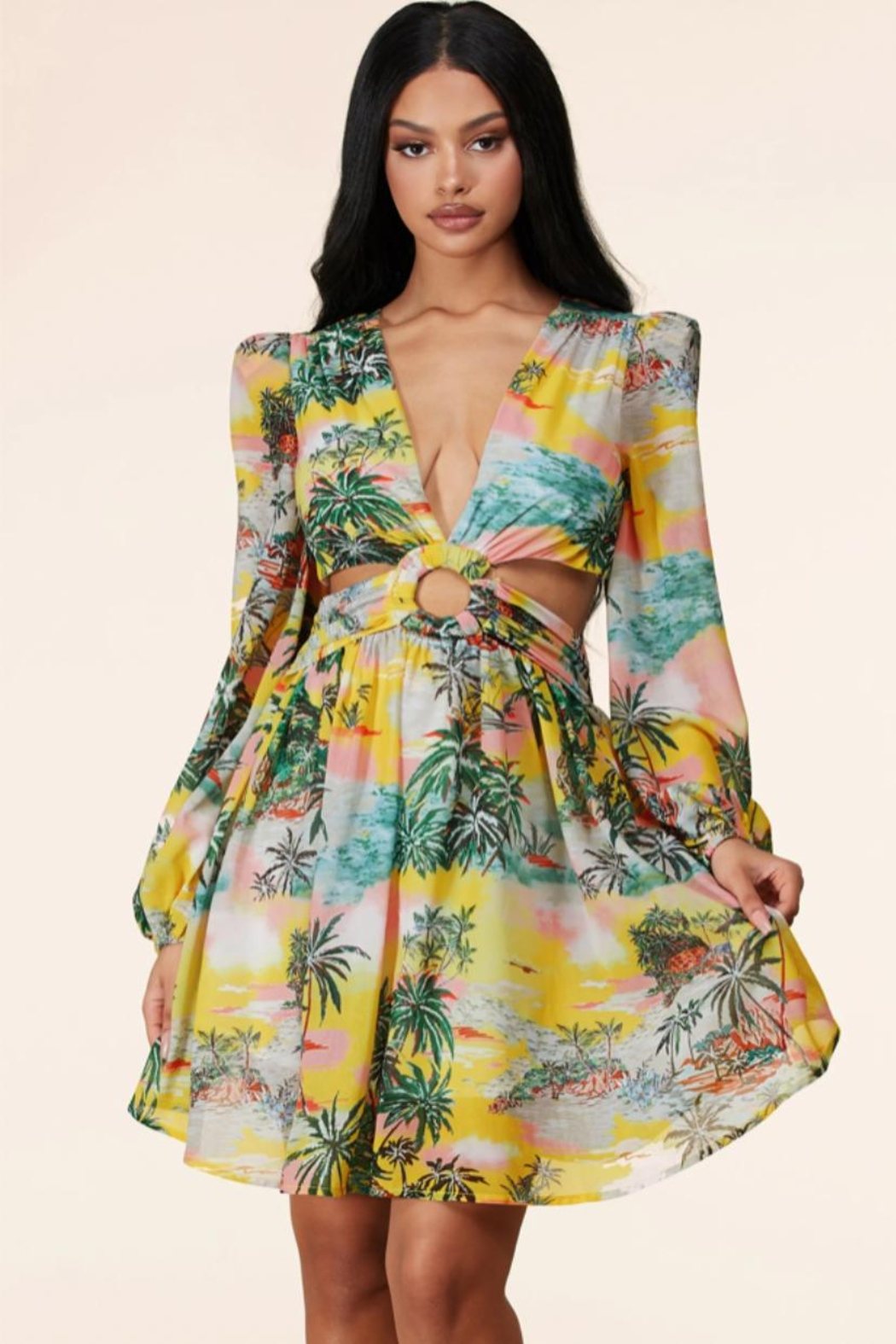 Latiste Tropical Cut-Out Dress - Main Image