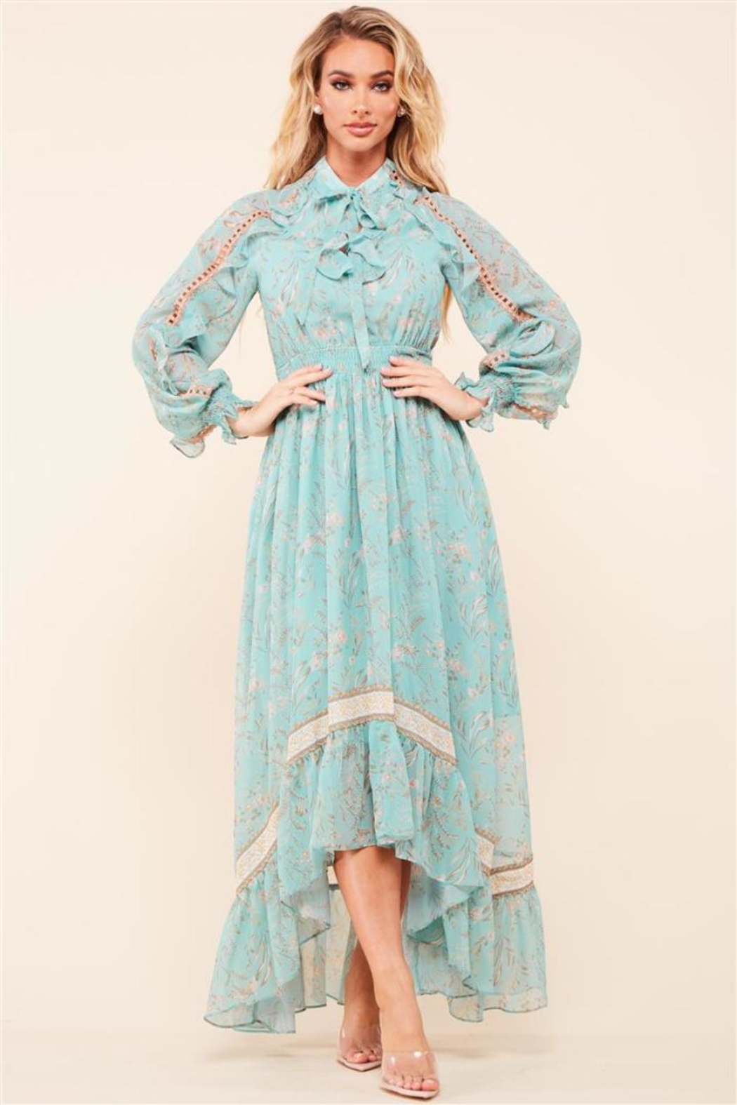 Latiste Vintage Floral Dress - Main Image