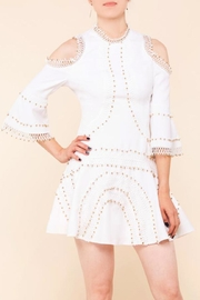Latiste White Cold-Shoulder Dress - Product Mini Image