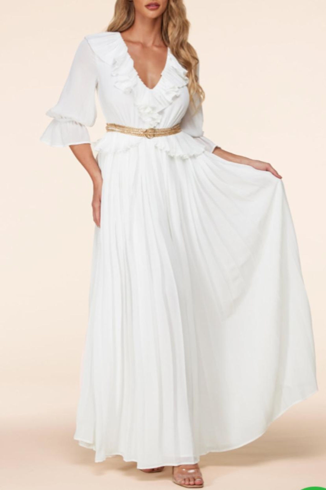 Latiste White Maxi Dress - Front Cropped Image