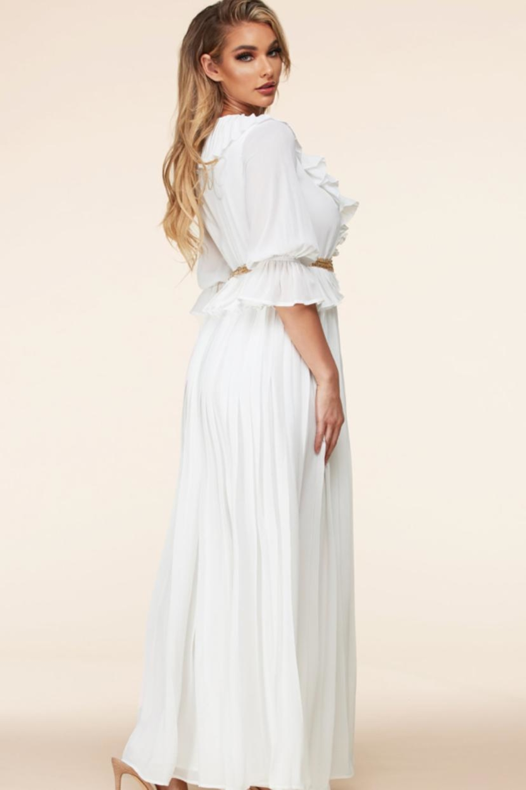 Latiste White Maxi Dress - Front Full Image