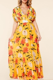 Latiste Yellow Floral Maxi - Front cropped