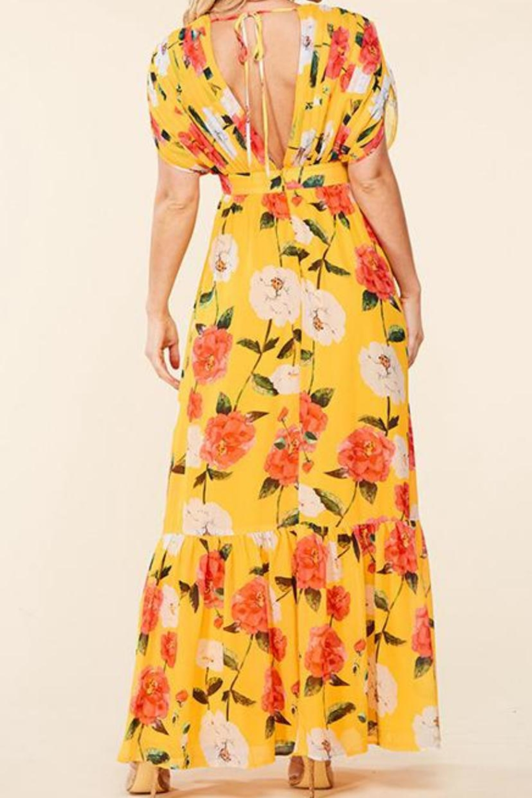 Latiste Yellow Floral Maxi - Front Full Image