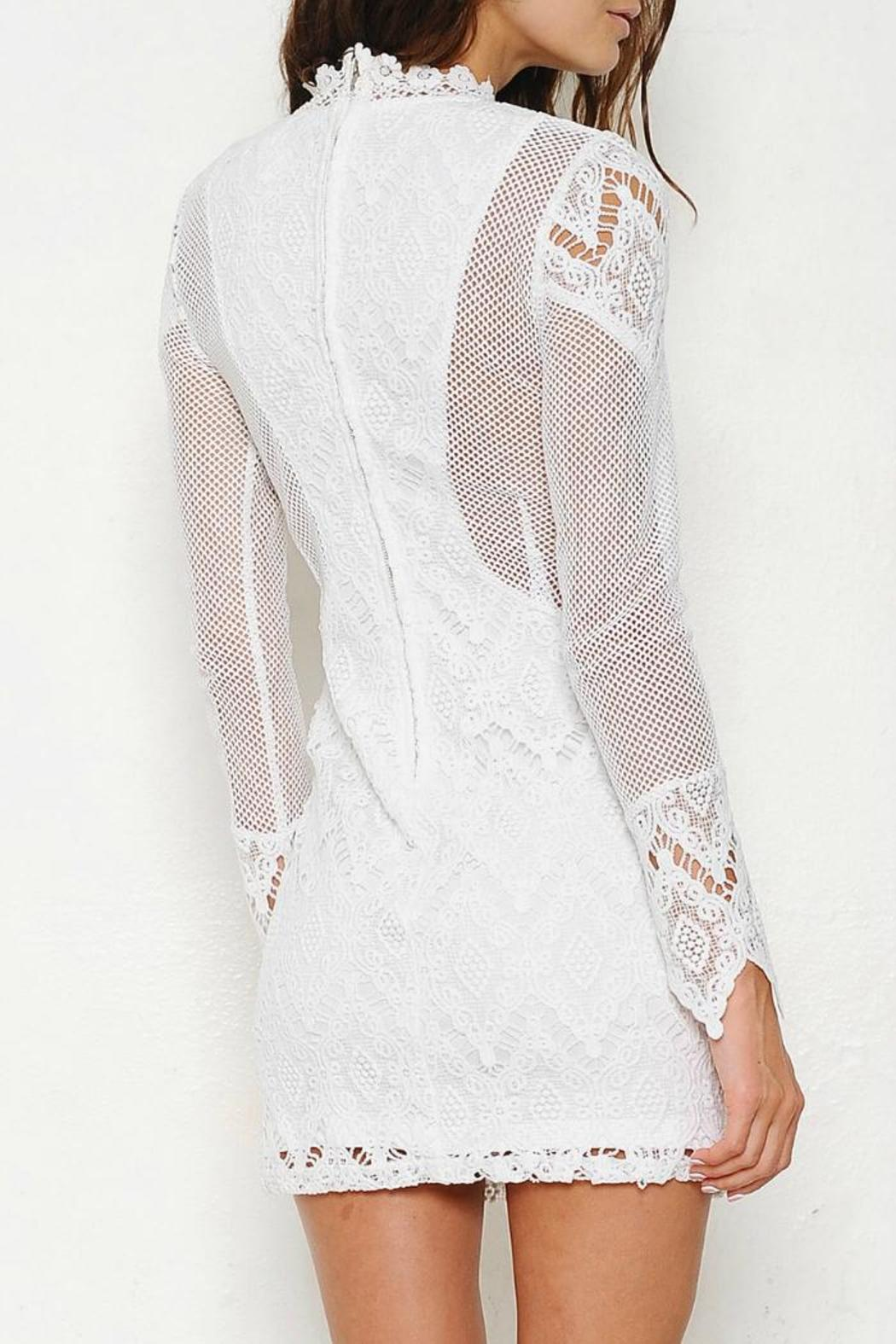 Latiste by AMY Sheer Mesh Dress - Front Full Image