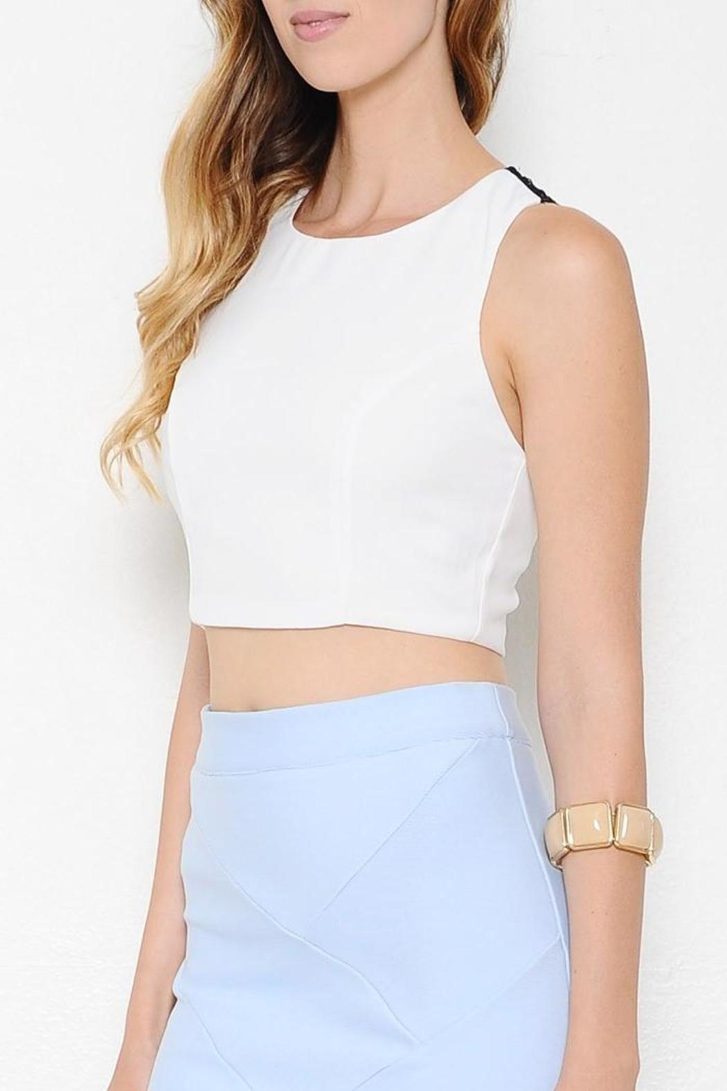 Latiste by AMY White Crop Top from Georgia by High Maintenance Dress ... 3159a7521