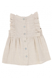 Latte Baby and Child | Girls' Ruffled metallic jumper - Front full body