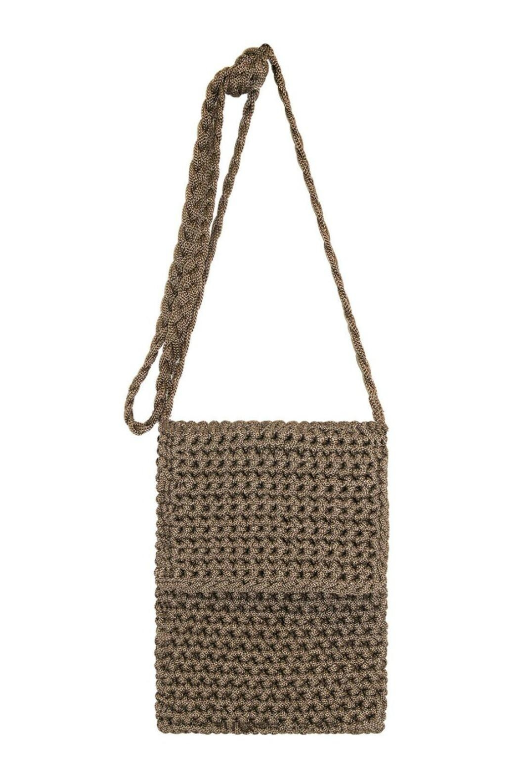 Petunias Latte Crossbody Bag - Front Cropped Image