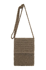 Petunias Latte Crossbody Bag - Front cropped