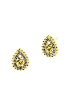 Freida Rothman  Lattice Droplet Earrings - Alternate List Image