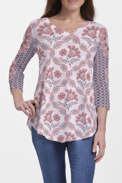 Whimsy Rose Lattice Floral ~ V-Neck Flowy Tunic - Product List Image