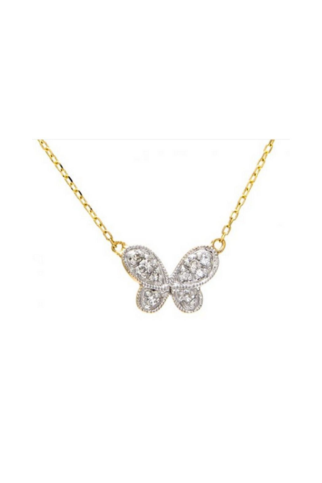 Lets Accessorize Butterfly Pave Necklace - Main Image
