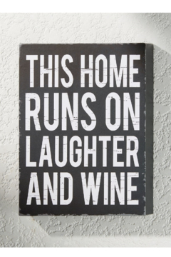 Giftcraft Inc.  Laughter and Wine Decor - Alternate List Image