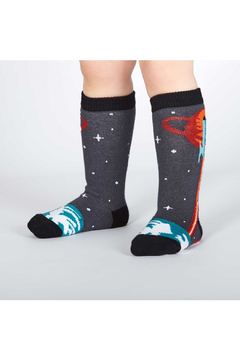 Sock it to me Launch From Earth Toddler Knee High Socks - Product List Image