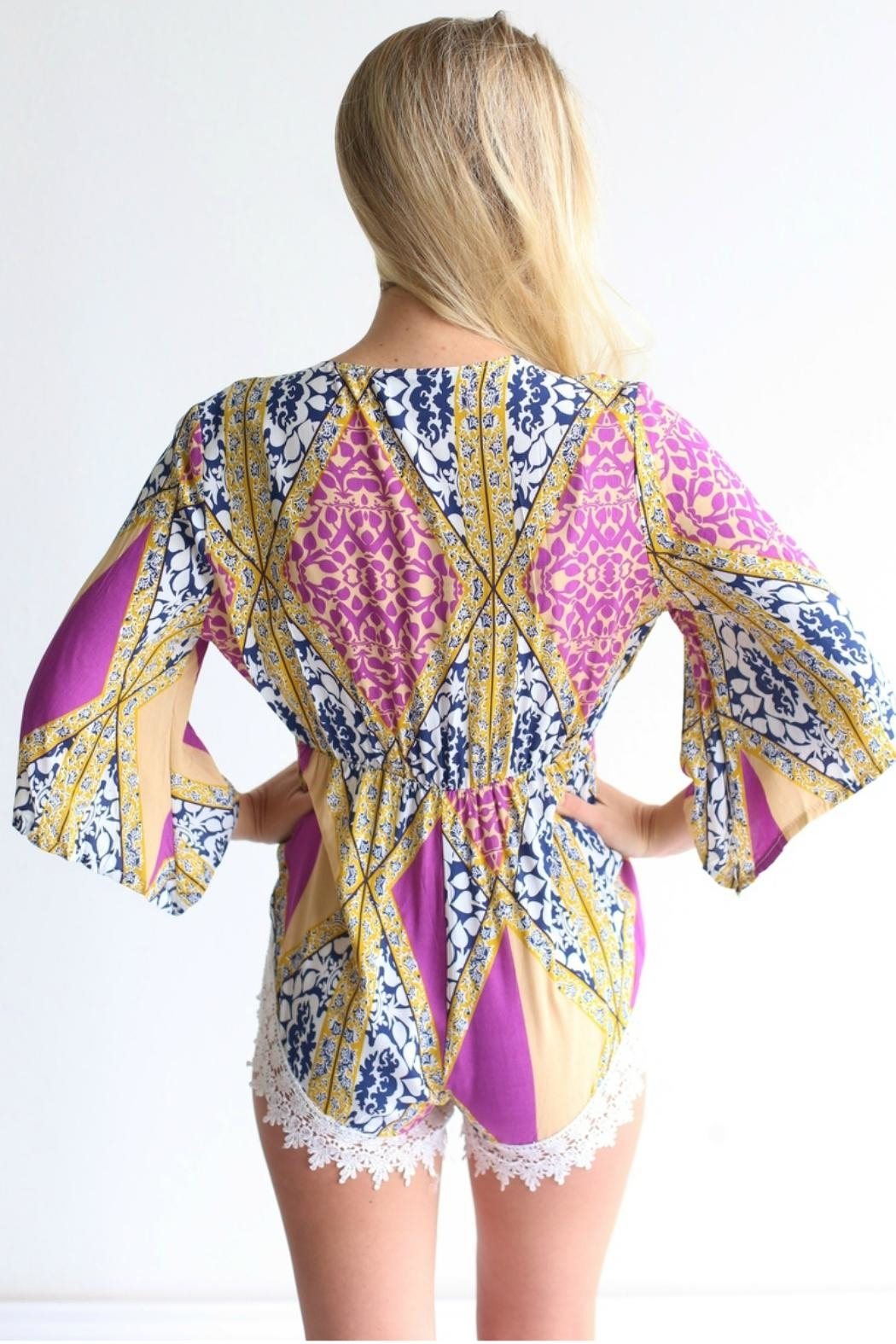 Laundry Patterned Romper - Side Cropped Image
