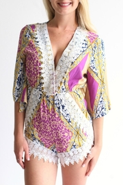 Laundry Patterned Romper - Front cropped