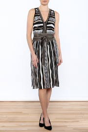 Laundry Stripe Knee Dress - Front full body