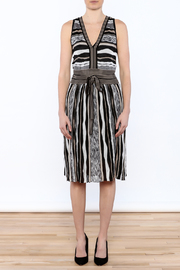 Laundry Stripe Knee Dress - Front cropped