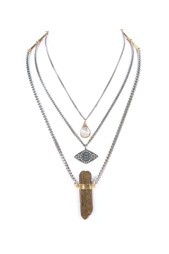 Shoptiques Product: Layered Teardrop-Eye-Gold Quarz