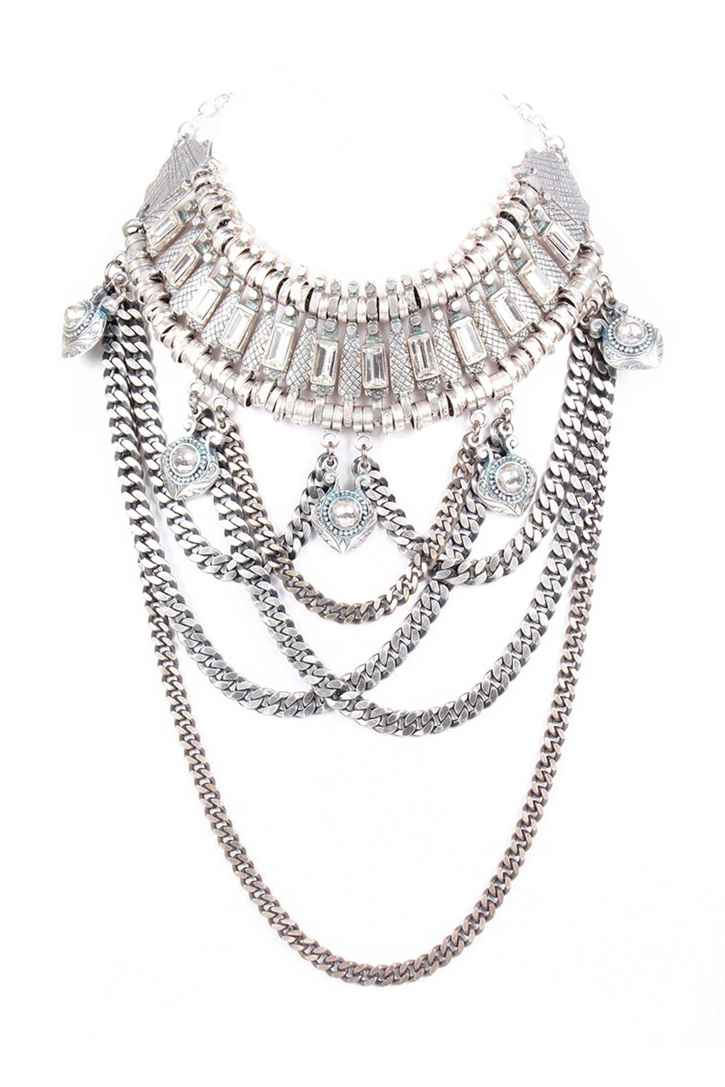 Laura Cantu Necklace With Chains - Front Cropped Image