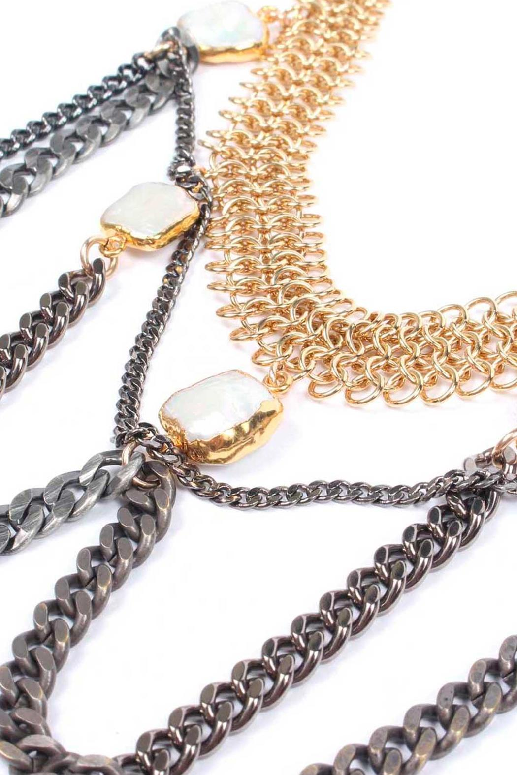 Laura Cantu Goldplated Chain Choker - Front Full Image