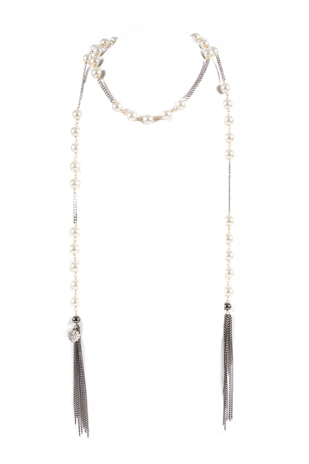 Laura Cantu Pear Lariat Chain - Main Image