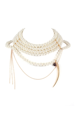 Shoptiques Product: Pearls With Horn Necklace