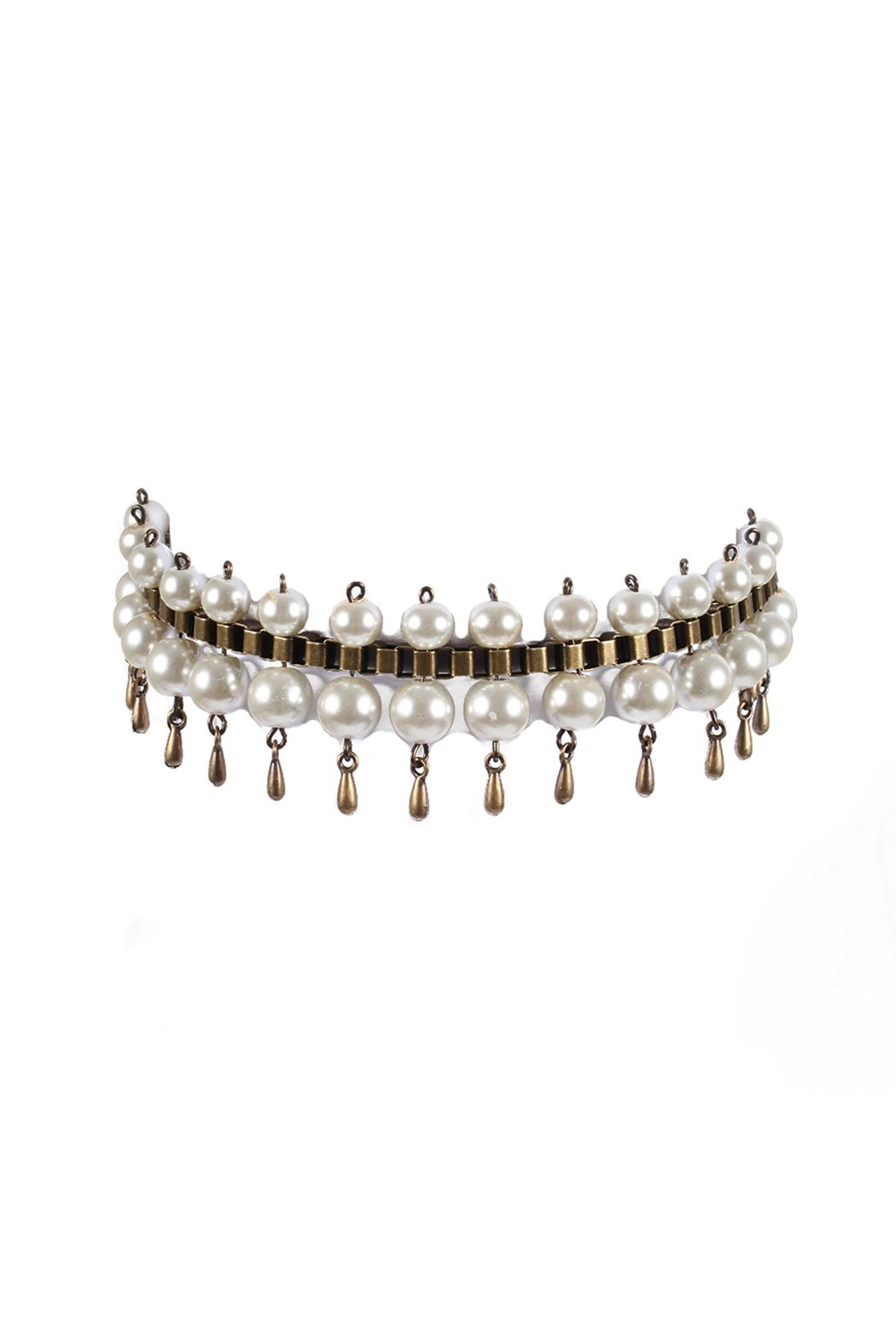 Laura Cantu Pearl Choker With Drops - Front Cropped Image