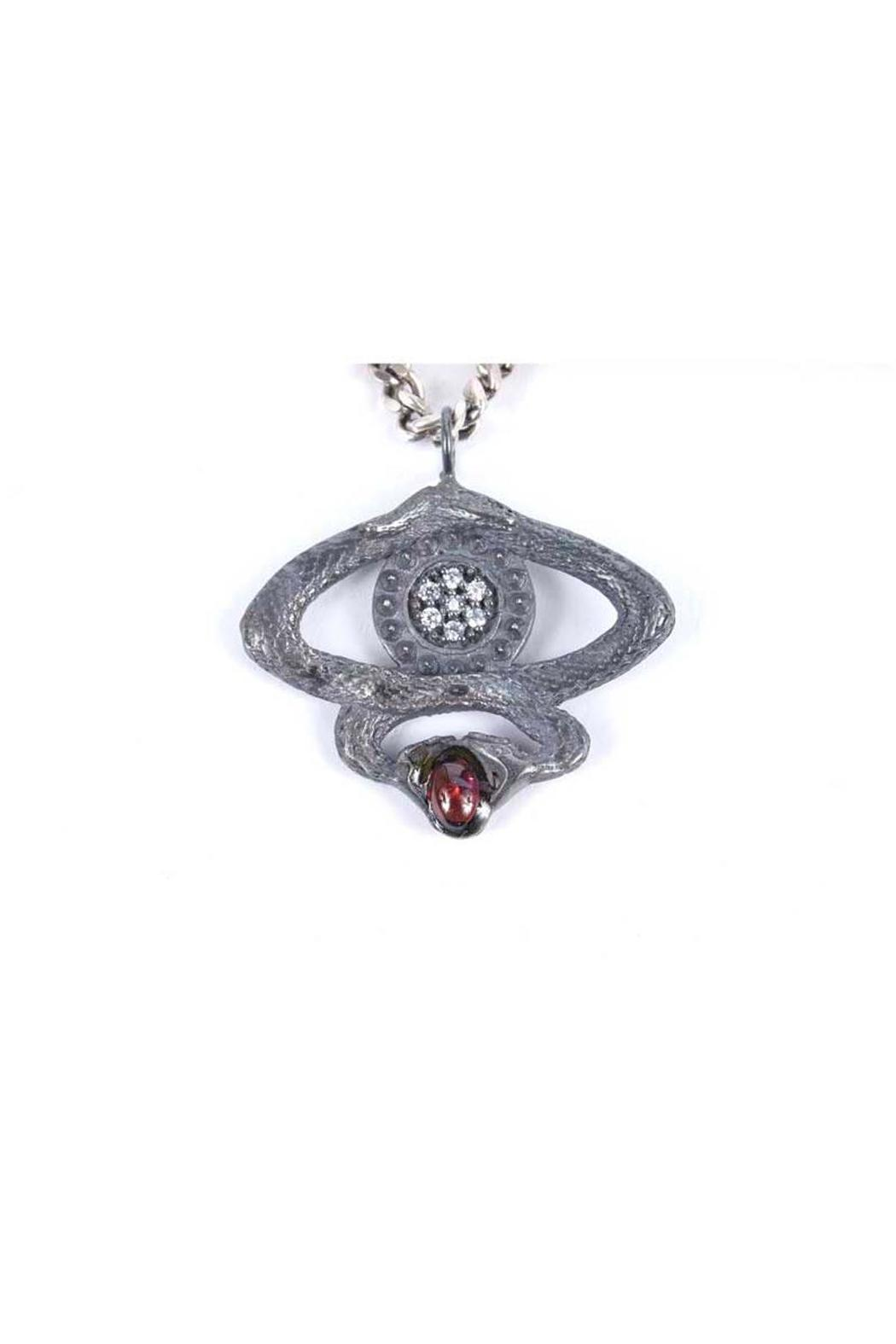 Laura Cantu Silver Snake Pendant - Side Cropped Image
