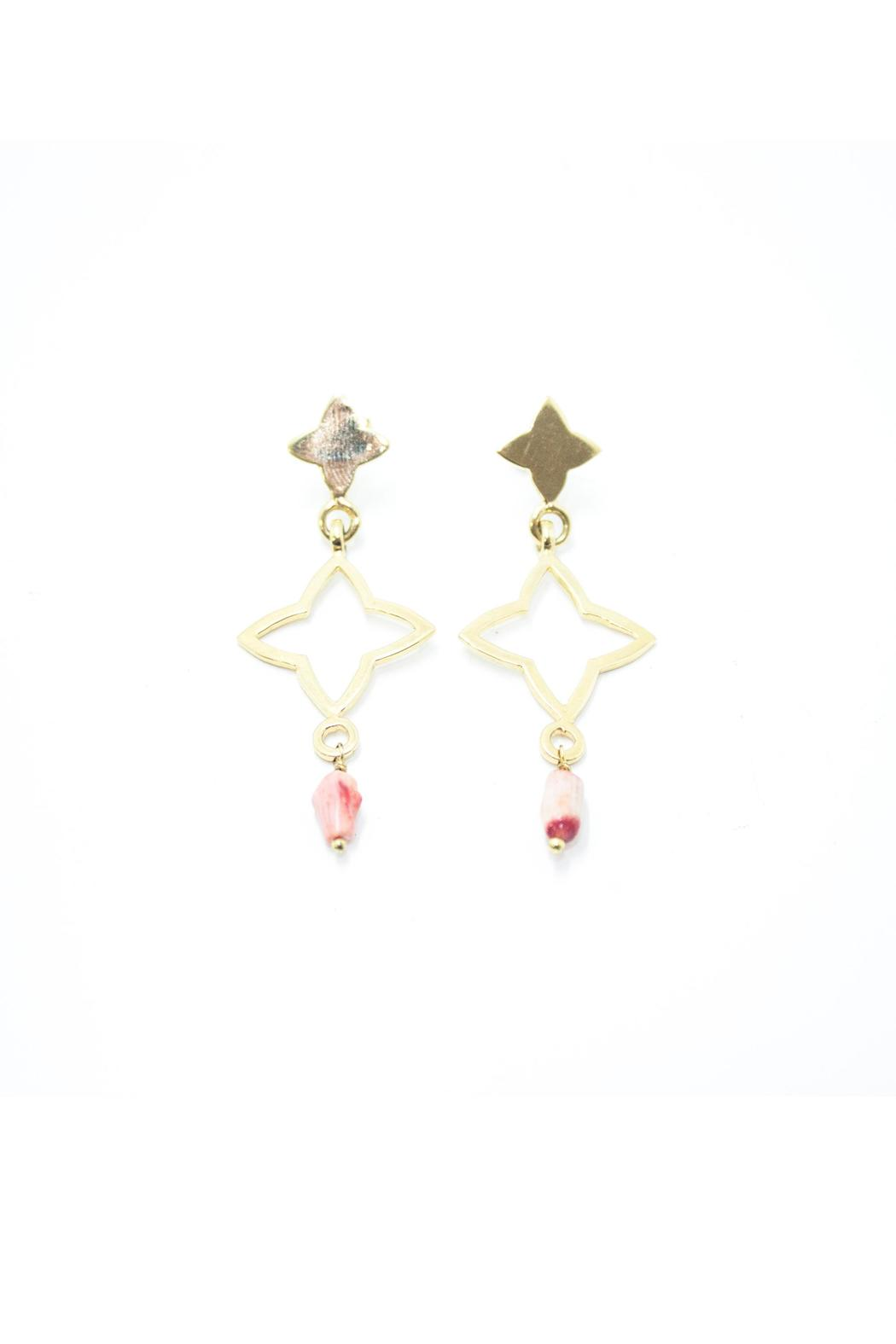 Laura Cuevas Lc Red Earrings - Main Image