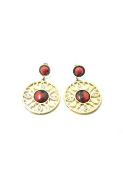 Shoptiques Product: Red Circle Earrings