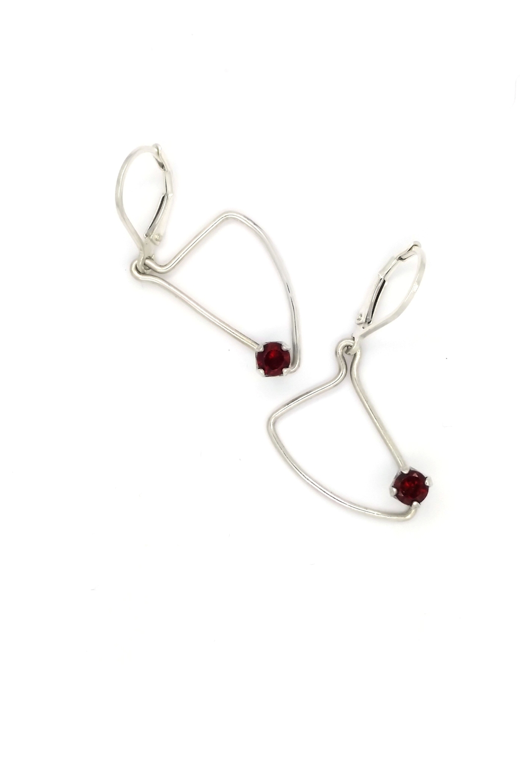 Laura Jane's Jewelry Assymetric Garnet Earrings - Side Cropped Image