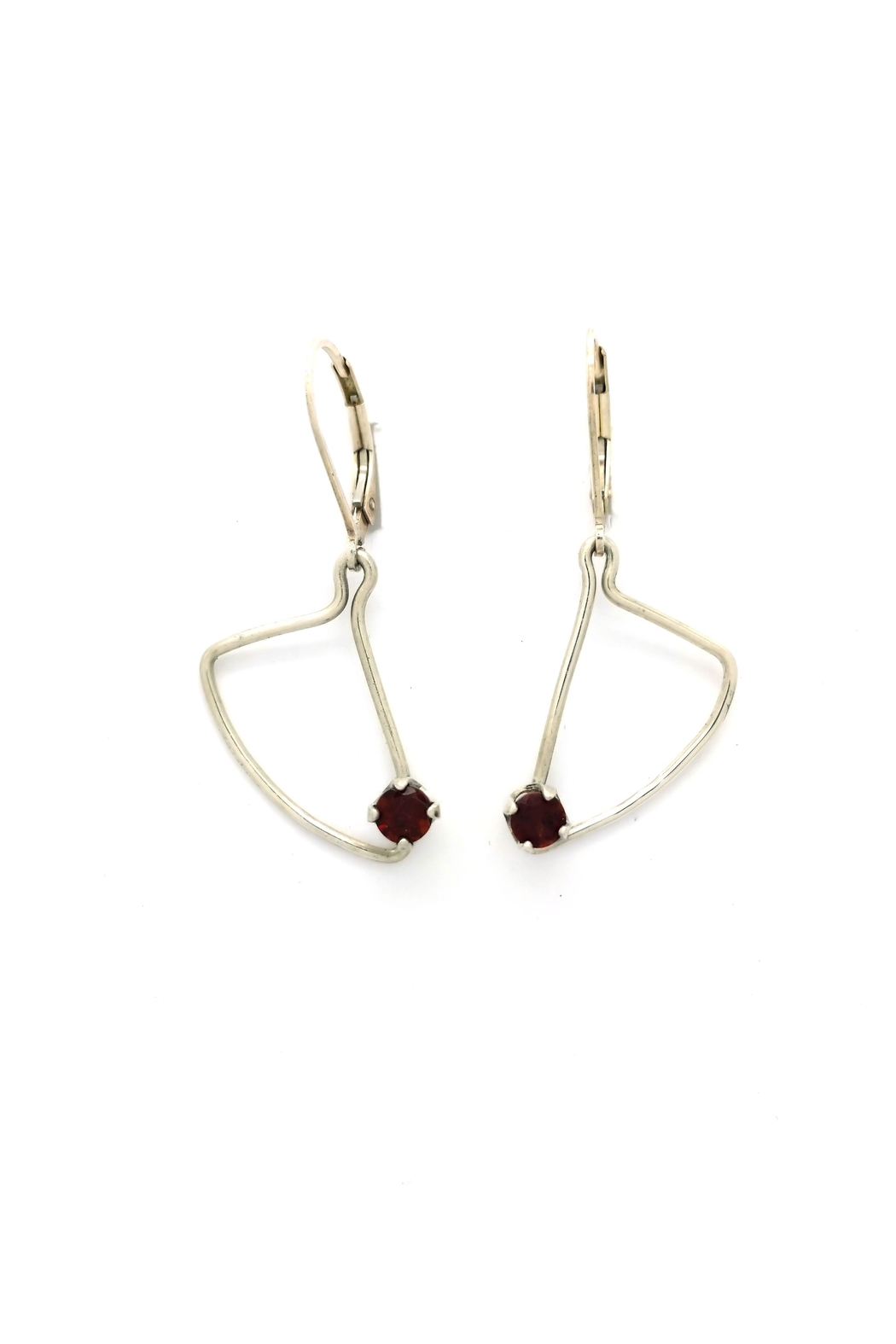 Laura Jane's Jewelry Assymetric Garnet Earrings - Main Image