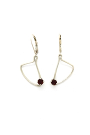 Laura Jane's Jewelry Assymetric Garnet Earrings - Front cropped