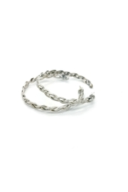 Laura Jane's Jewelry Braided Hoop Earrings - Front full body