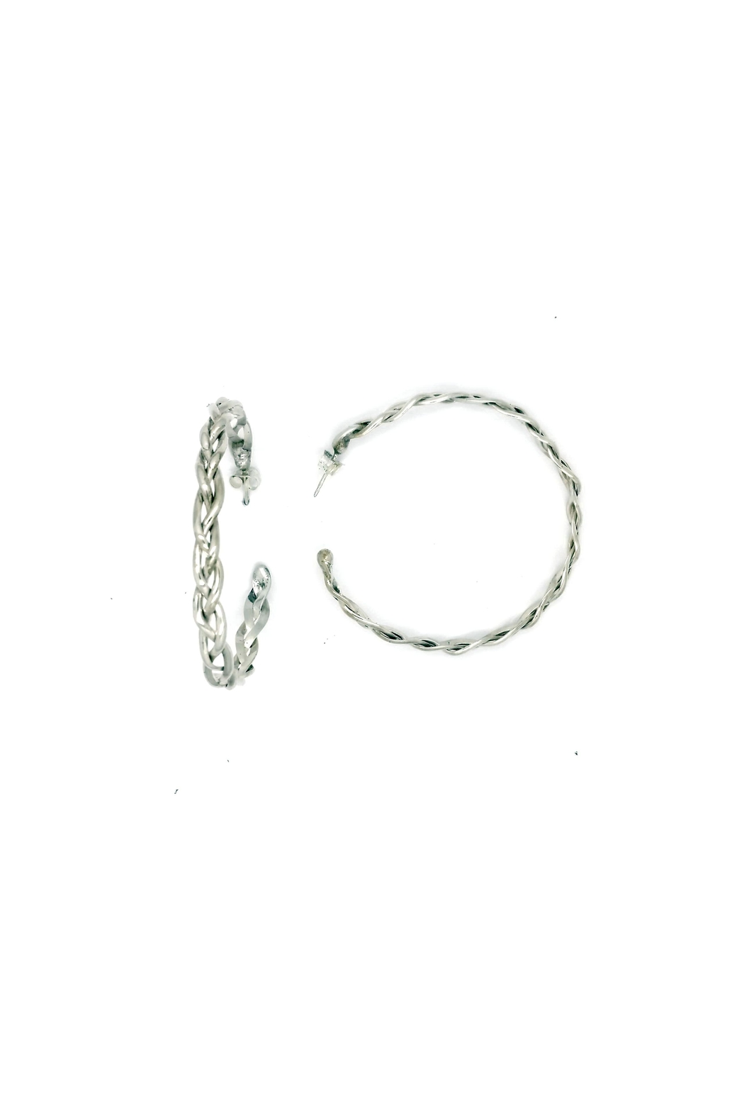 Laura Jane's Jewelry Braided Hoop Earrings - Main Image