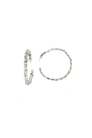 Laura Jane's Jewelry Braided Hoop Earrings - Front cropped