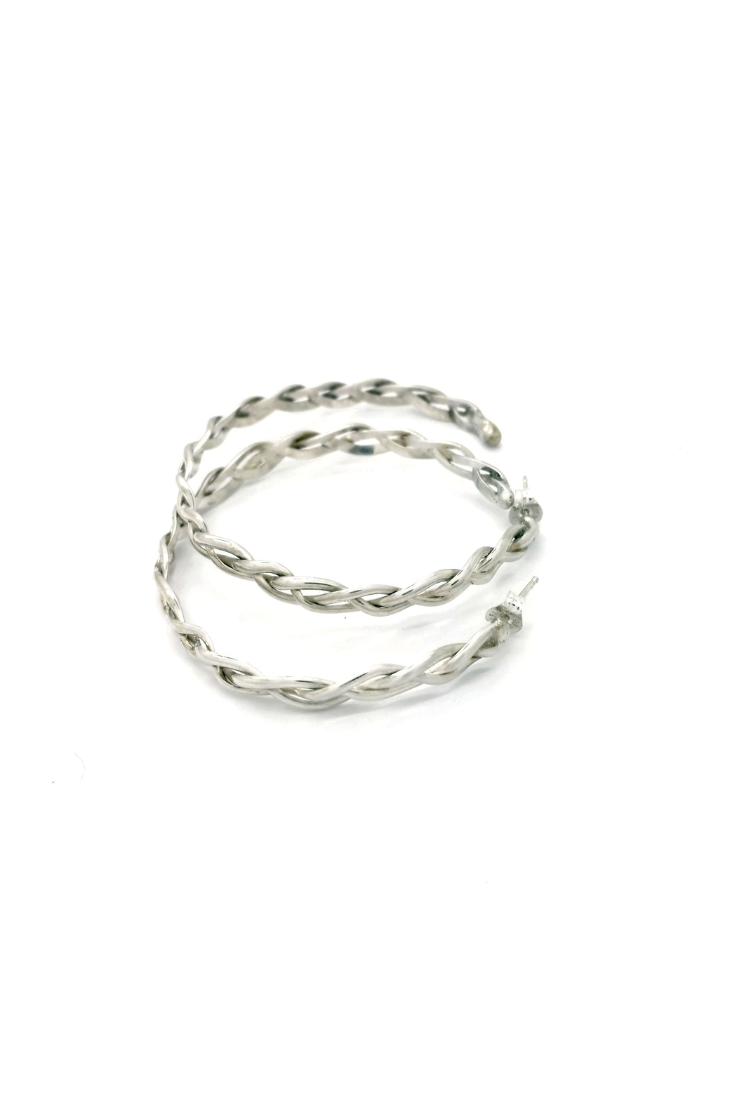Laura Jane's Jewelry Braided Hoop Earrings - Side Cropped Image
