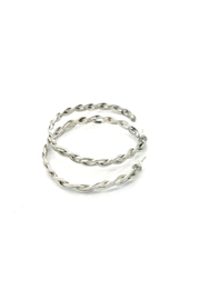 Laura Jane's Jewelry Braided Hoop Earrings - Side cropped