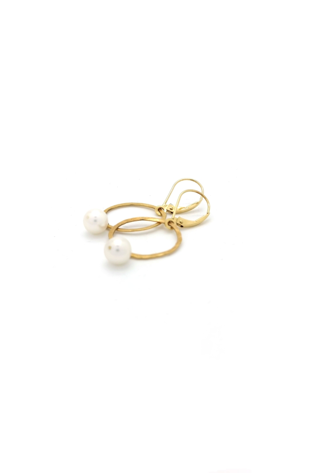 Laura Jane's Jewelry Circle Pearl Earrings - Side Cropped Image