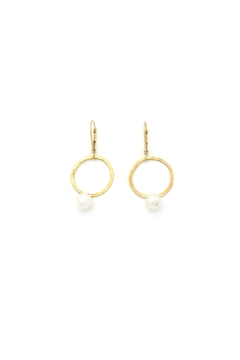 Laura Jane's Jewelry Circle Pearl Earrings - Product List Image