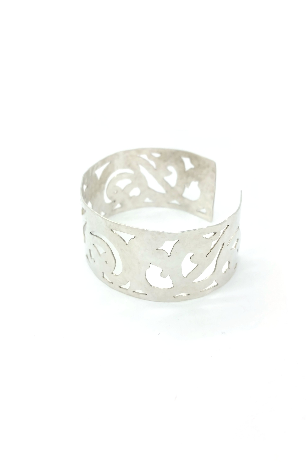 Laura Jane's Jewelry Light Scrollwork Cuff - Front Full Image