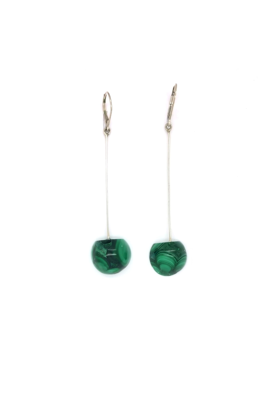 Laura Jane's Jewelry Malachite Drop Earrings - Main Image