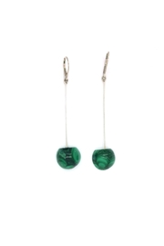 Laura Jane's Jewelry Malachite Drop Earrings - Front cropped