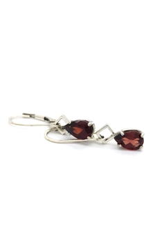 Laura Jane's Jewelry Pear Garnet Earrings - Alternate List Image