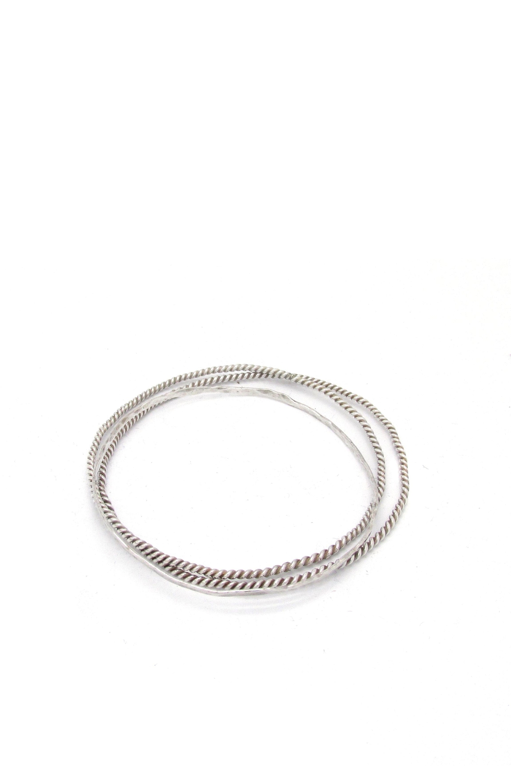 Laura Jane's Jewelry Silver Bangle Trio - Front Full Image
